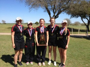 Hamilton Bulldog Girls Golf Team Dist Champs 2014